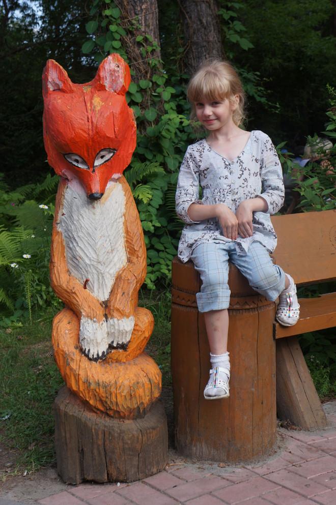 зоопарк Новосибирска с Иришкой